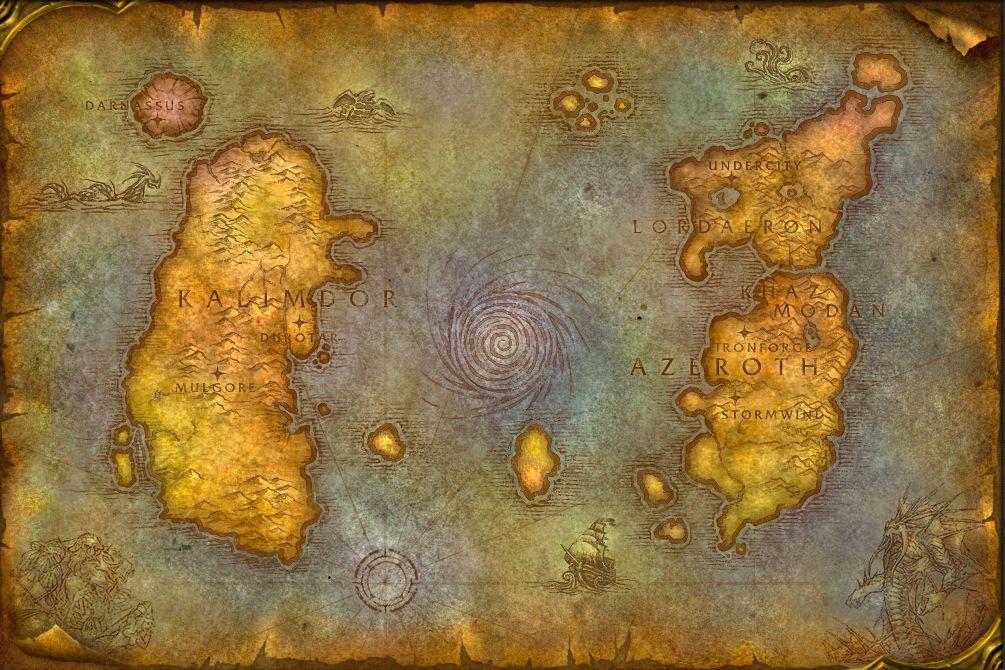 The original map of Azeroth <3 | ♥ ani / fictional maps & script in ...