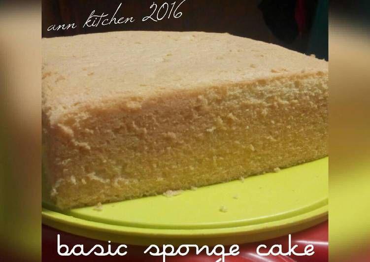 Resep Basic Sponge Cake Ncc Oleh Falen Ann Resep Kue Bolu Kue Resep