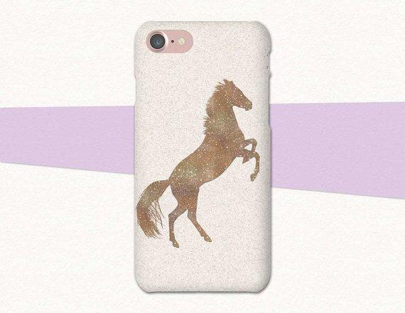 Rearing Horse Phone Case | Equestrian iPhone Case | Gold Glitter Phone Case | Atlantek Designs | Designed by Purple Horse Designs | atlantekdesigns.etsy.com