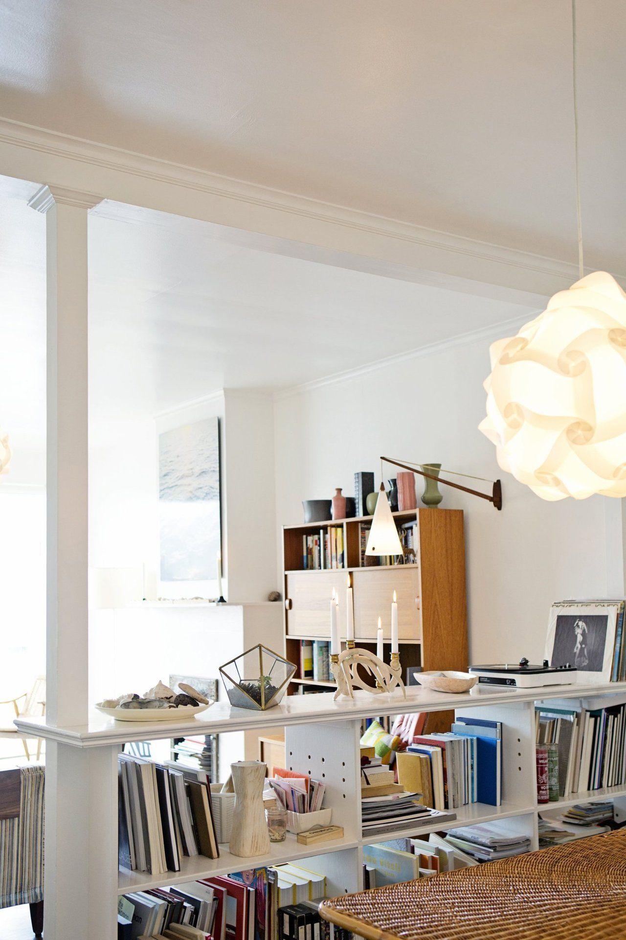 Thayerus modern beachy apartment house tours shelves and modern