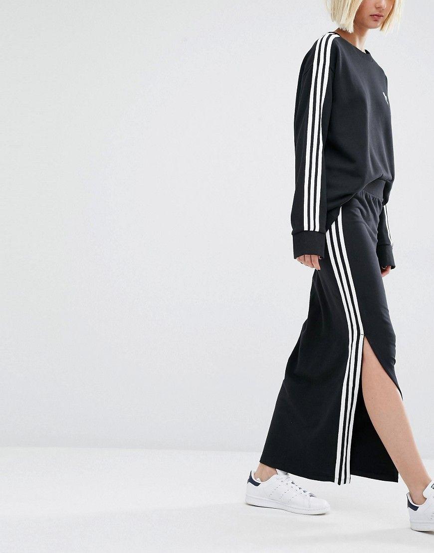 87abe0dc3ae Image 4 of adidas Originals Three Stripe Maxi Skirt
