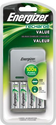 Energizer Value Charger With Aa Rechargeable Batteries Energizer Battery Nimh Battery Charger Aaa Battery Charger