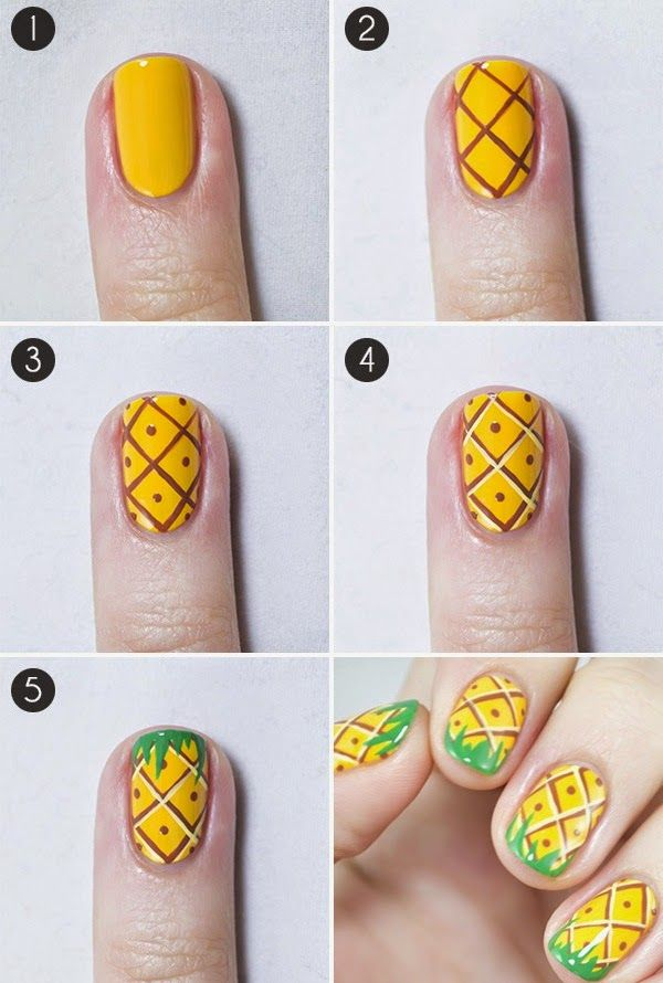 Fruits Nail Art Design and Cool Ideas Step By Step Tutorial ...
