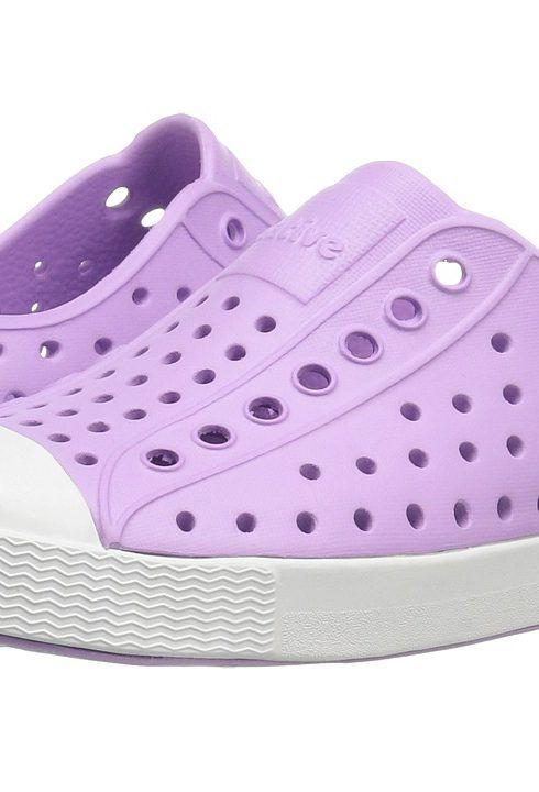 Native Kids Shoes Jefferson Lavender Purple/Shell White Girls