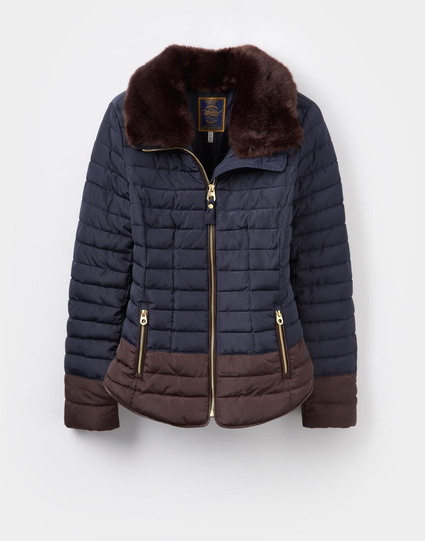 Gosfield Marine Navy Padded Jacket | Joules UK | Style Me Pretty ...