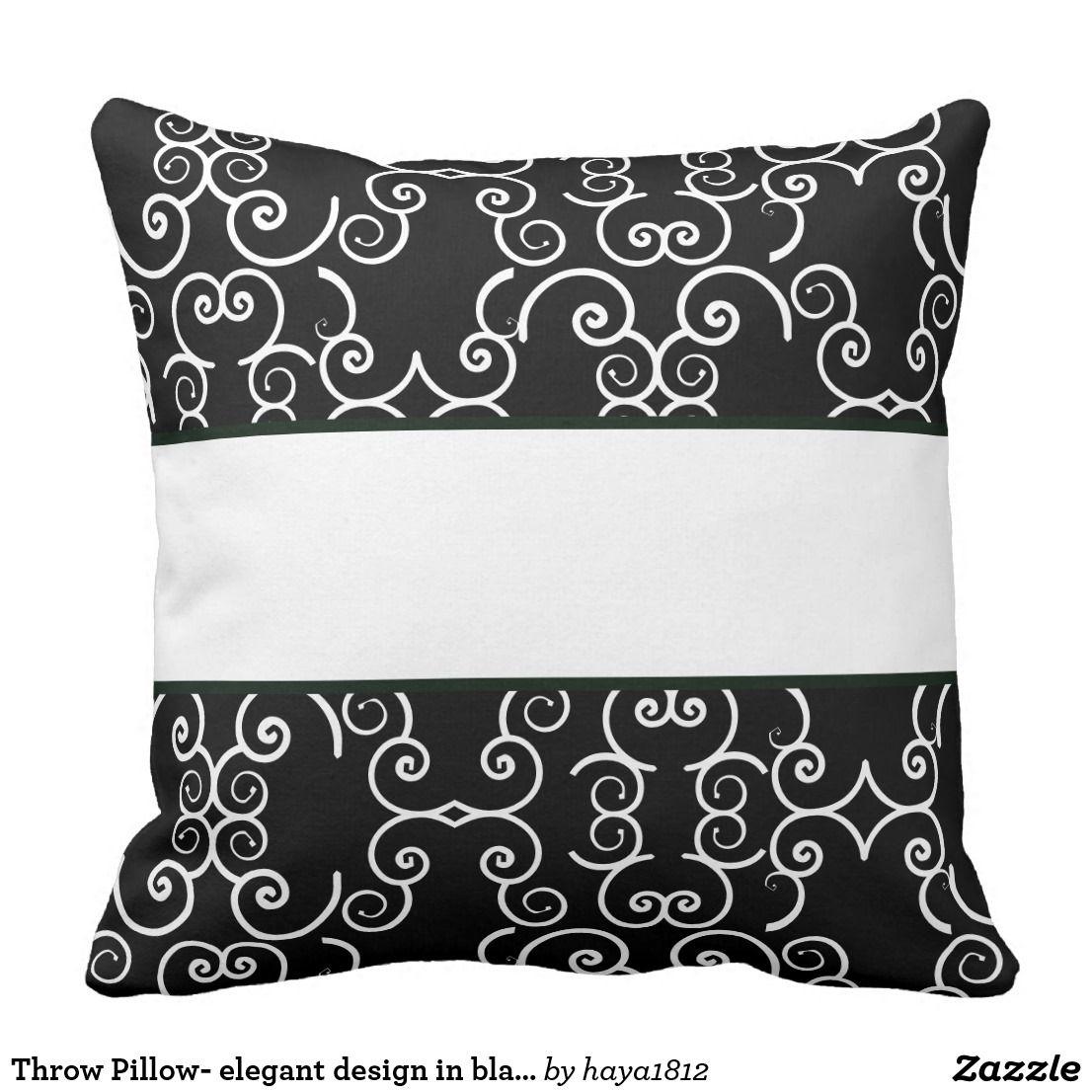 Throw Pillow Elegant Design In Black White Throw Pillow Elegant Pillow Pillows Throw Pillows