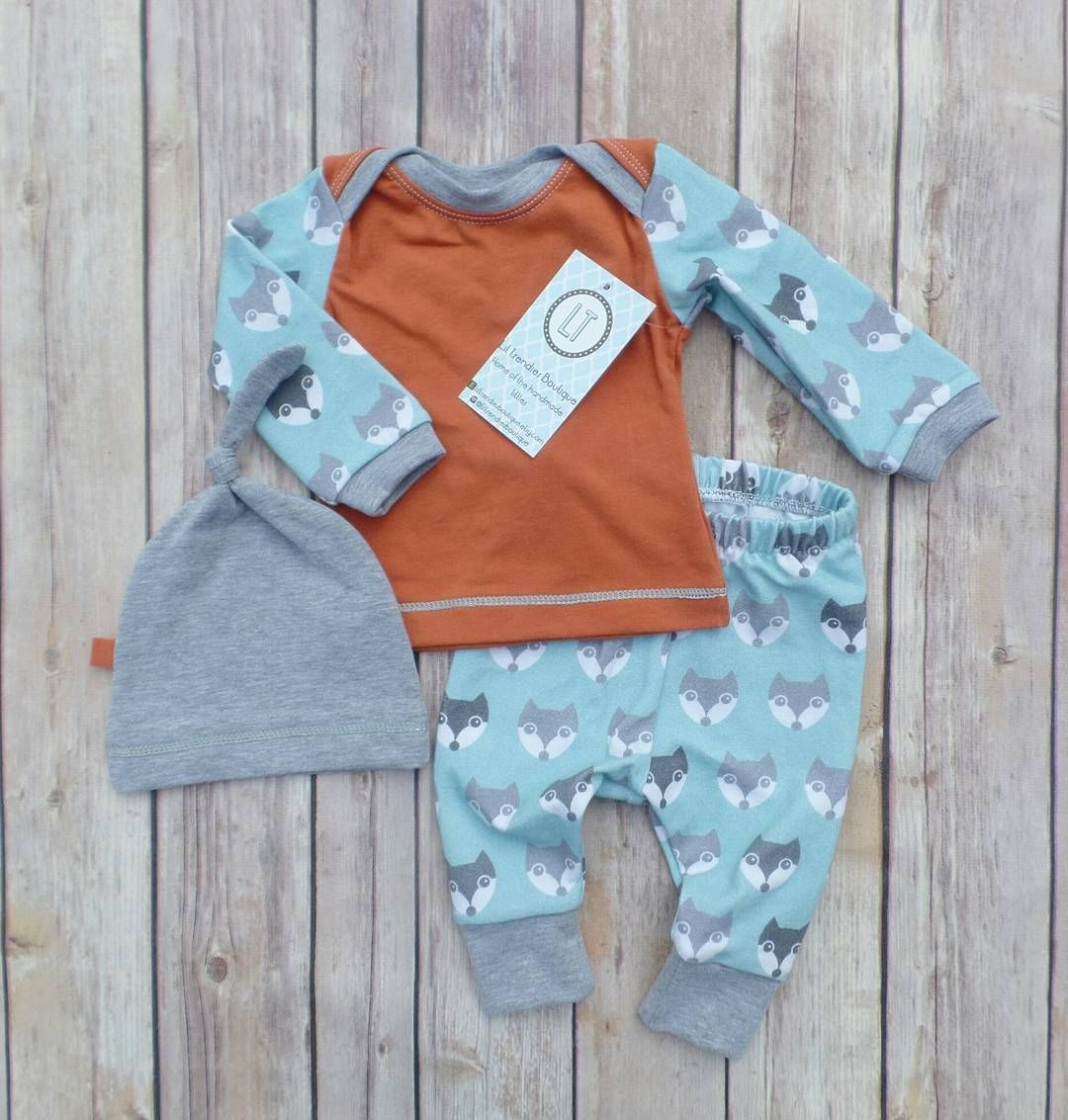 Vintage fox//Newborn coming home outfit//Baby boy//liltrendiesboutique