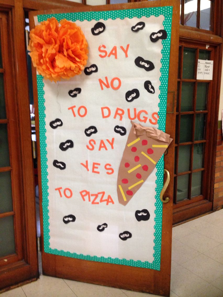 Red Ribbon Week Door Decoration Contest Counselor Pinterest - Halloween Office Door Decorating Contest Ideas