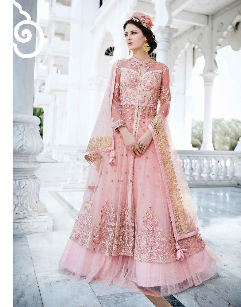 5a903668ab Indo Western Bollywood Designer India Party Wear Baby Pink Dress New Salwar  Suit #RadhaKrishnaExports #SalwarKameez