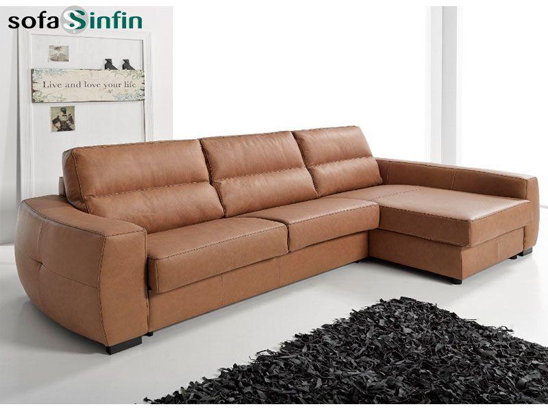Sofá chaise longue cama modelo Roy fabricado por Suinta en