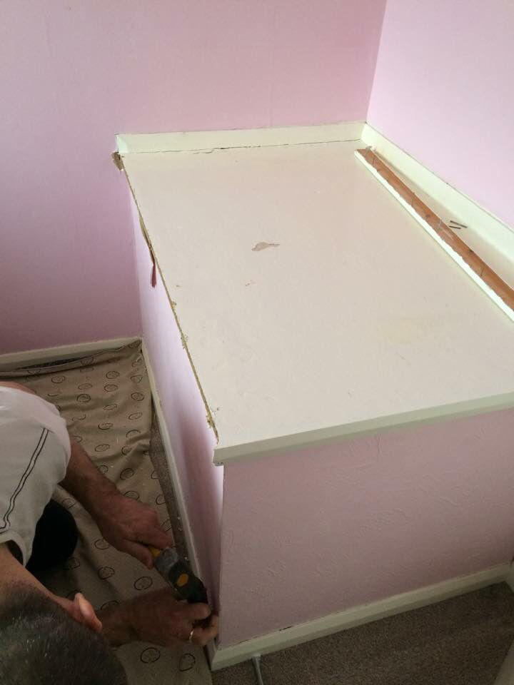 Stair Box In Bedroom: Step 1: Removing The Bulkhead.