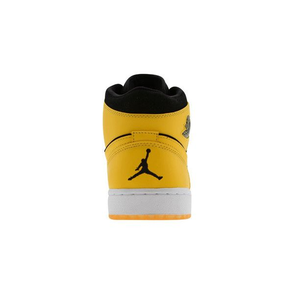 cheaper aad9e bce21 Air Jordan 1 Retro BMP Split (black yellow) Shoes ( 250) ❤ liked on  Polyvore featuring shoes and jordan