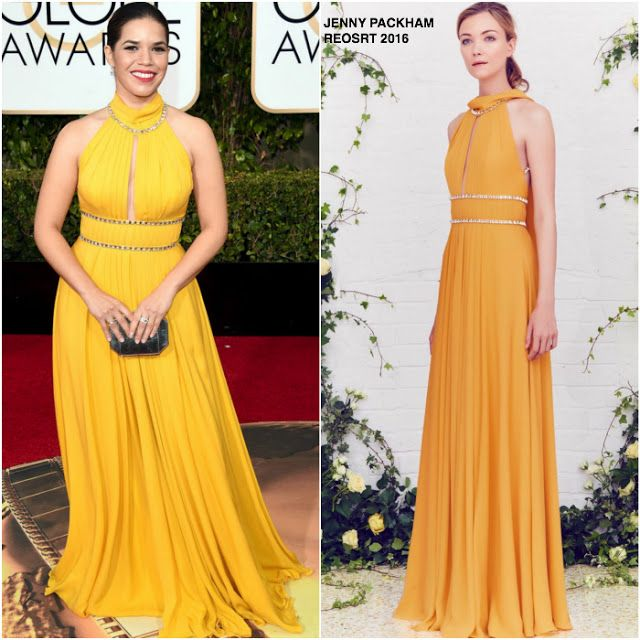 America Ferrera in Jenny Packham at the 73rd Annual Golden Globe Awards