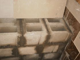 Inside Shower Benches Wood Or Concrete Block Shower Bench Tile