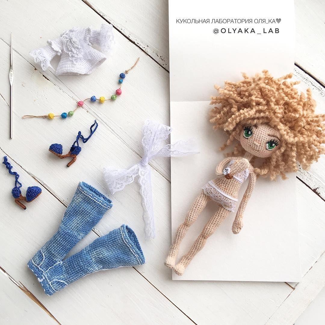 У куколки появился гардеробчик 👖 👚 👡 🌸 🎀 крошечные⏱на руке ...