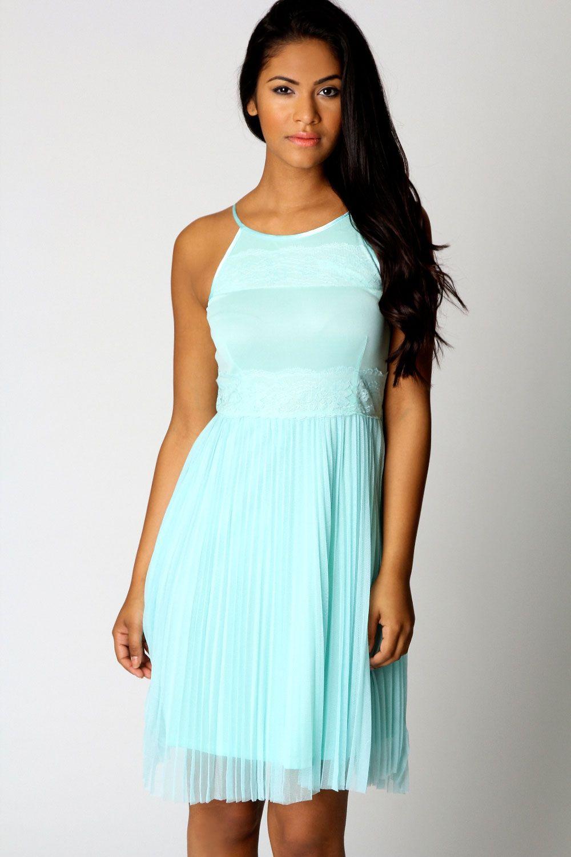 Lucy Lace Strappy Dress $50 www.boohoo.com