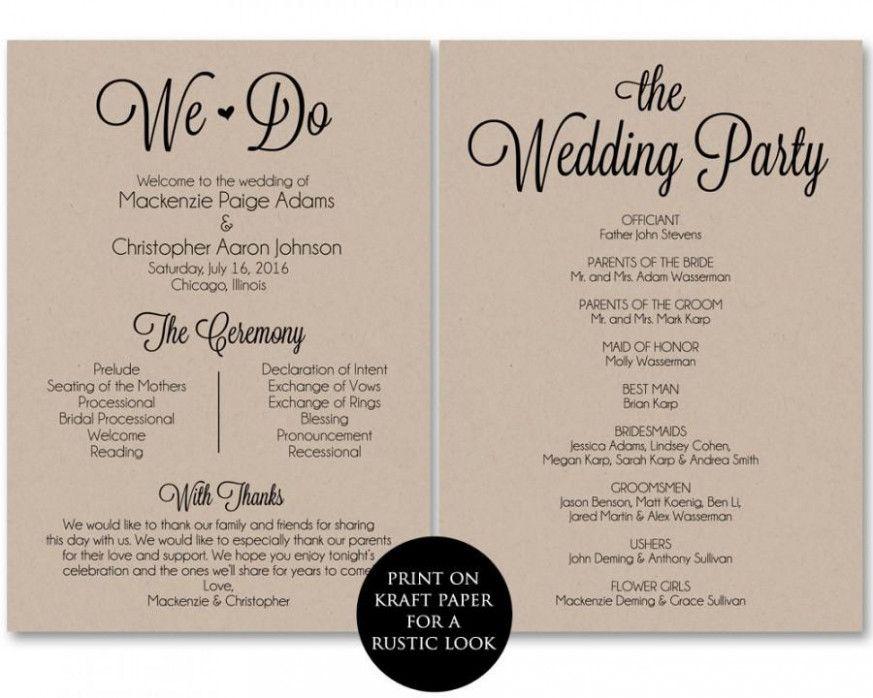 Wedding Ceremony Template Free Printable Ceremony Program Template Printable Wedding Programs Wedding Program Template Free