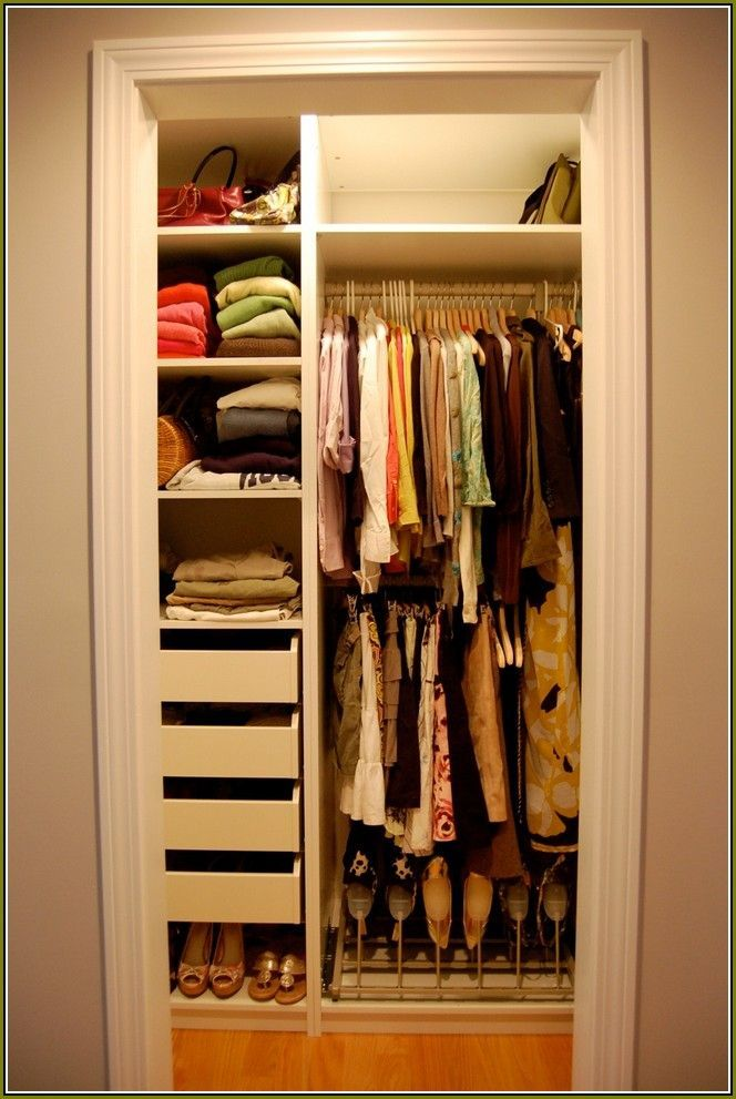 Pin By GONAWA On 40 Bedroom Ideas For Small Rooms For Couples Closet Mesmerizing Small Bedroom Closet Organization Ideas Decor