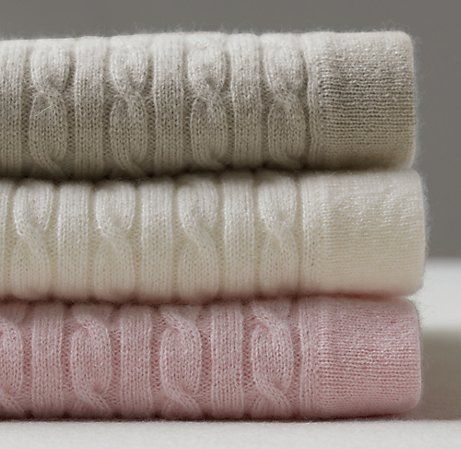 Cable Knit Cashmere Blankets