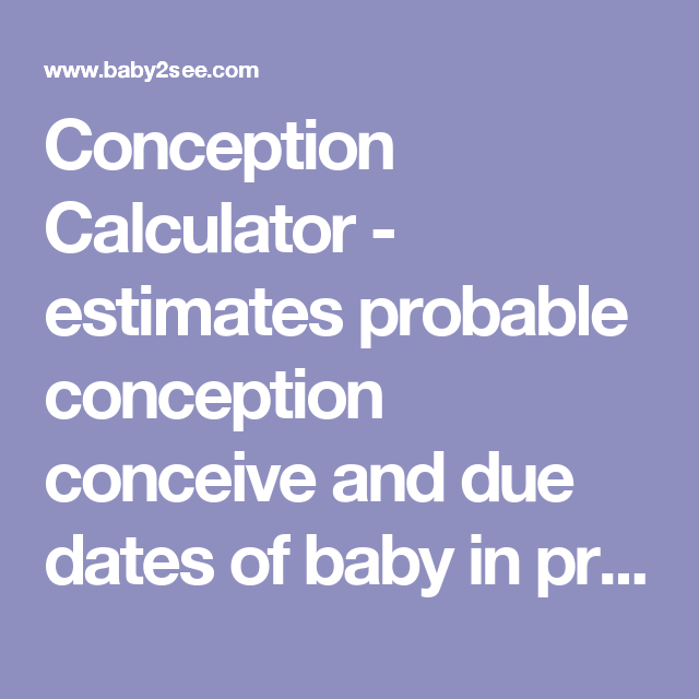 Due date by conception date