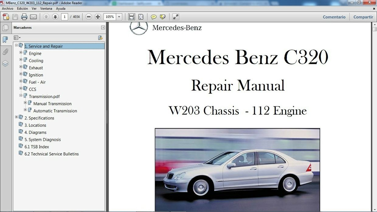 mercedes benz c320 w203 manual de taller workshop repair rh pinterest com 2010 Mercedes CLS 500 mercedes cls 320 cdi repair manual