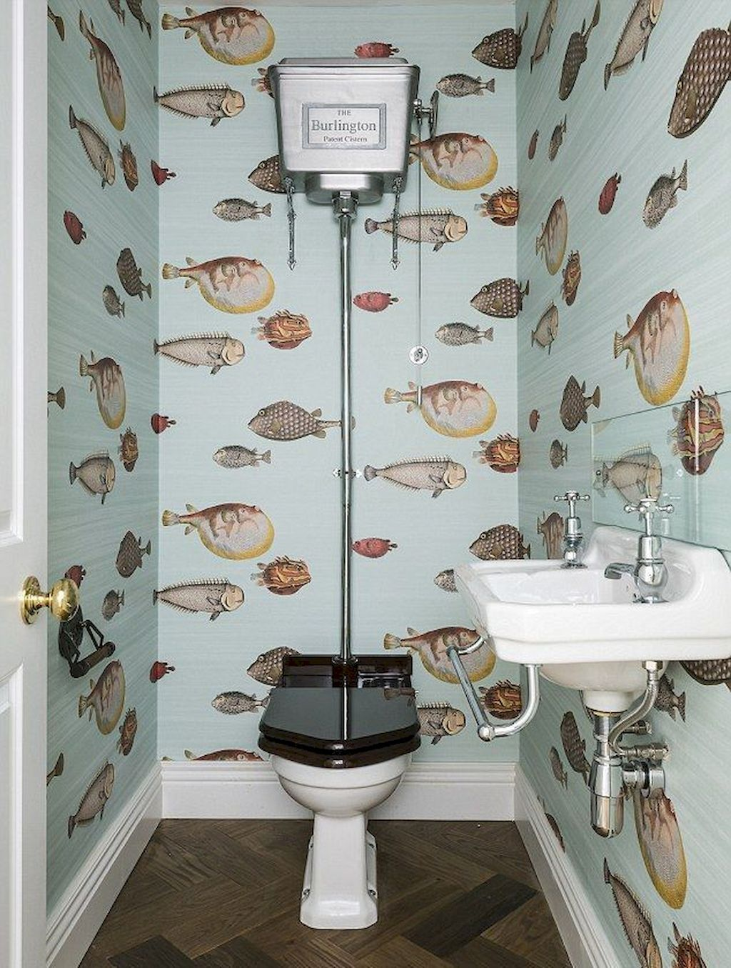 Space Saving Toilet Design For Small Bathroom Home To Z Small Bathroom Wallpaper Downstairs Toilet Small Toilet Room