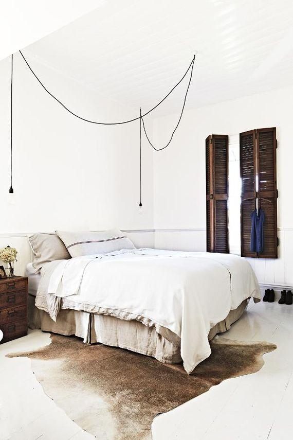 Bare Bulb Pendant Lamps As Bedside Lighting Home Bedroom Rustic Bedroom Bedroom Inspirations