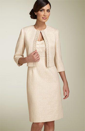 Tahari By Arthur S Levine Metallic Jacquard Jacket Dress Nordstrom