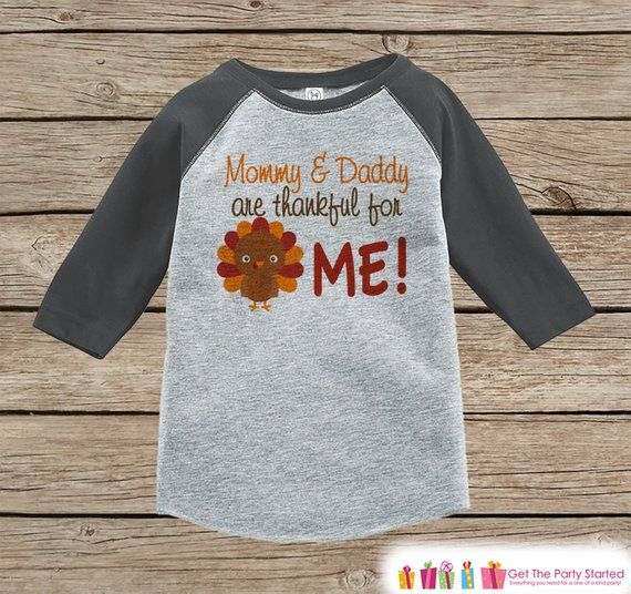 Happy Thanksgiving Boys T-Shirt Grateful Kids T Shirts for Girls