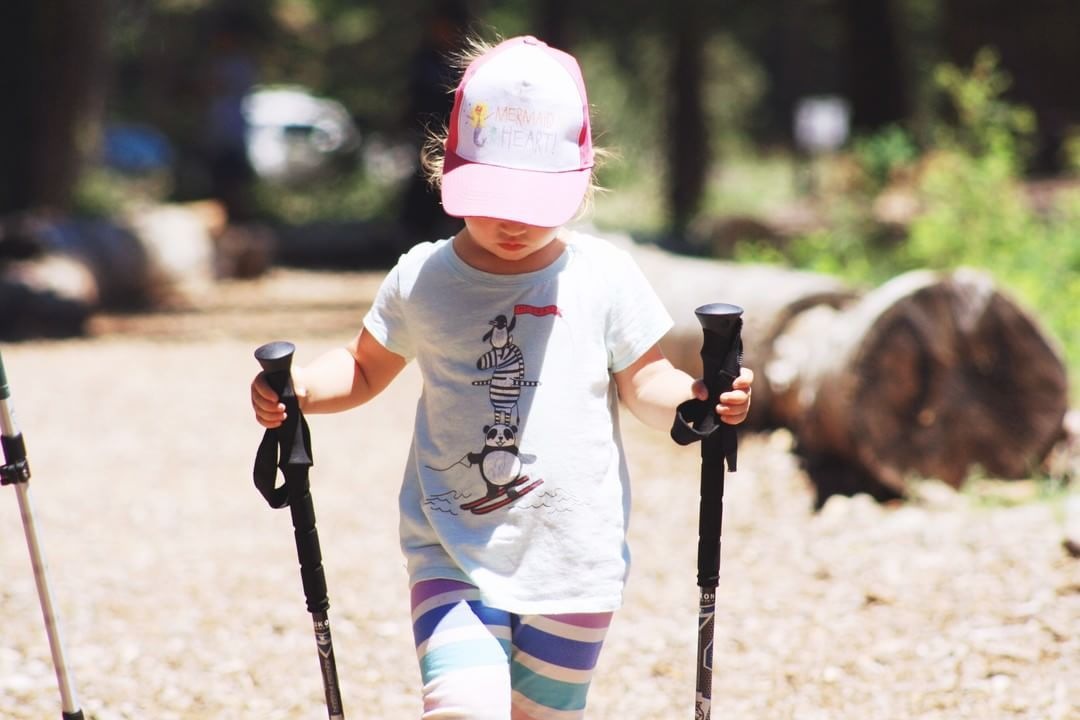Trekking poles help to add a new level of fun, while