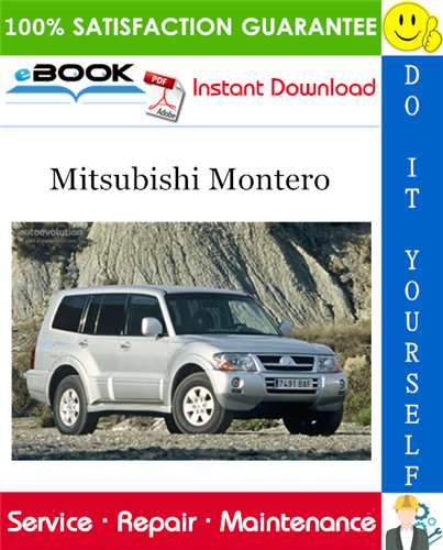 2003 Mitsubishi Montero Service Repair Manual Repair Manuals Mitsubishi Repair
