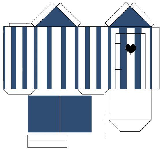 cabine plage pliage papier cadeau pinterest cabine pliage et plage. Black Bedroom Furniture Sets. Home Design Ideas