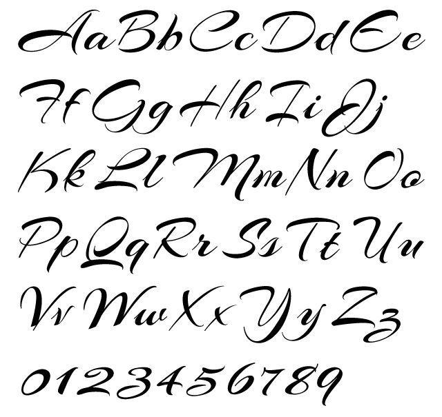 25+ Unique Cursive Alphabet Letters Ideas On Pinterest | Pretty ...