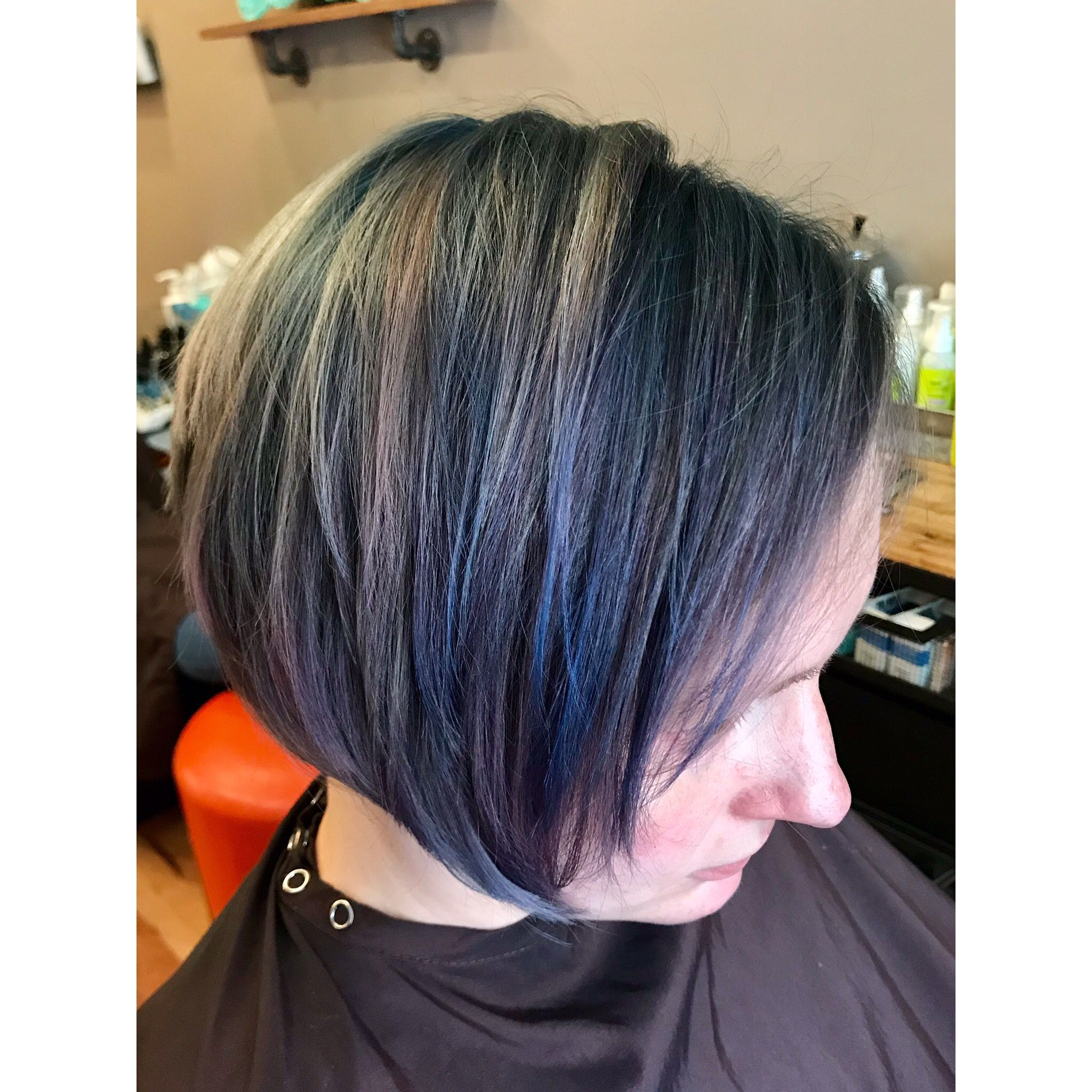 These Smokey Pastels Change With Each Glance Like A Subtle Impressionist Watercolor On Her Dark Hair Oilsli Oil Slick Hair Pastel Green Hair Hair Colorist