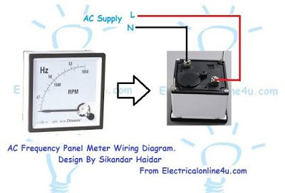 frequency meter wiring   wiring   Current transformer