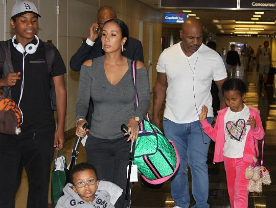 Photos Mike Tyson And Family Spotted Arrive In Dc Black Celebrity Kids Black Celebrity Kids Black Celebrity Gossip Celebrity Kids