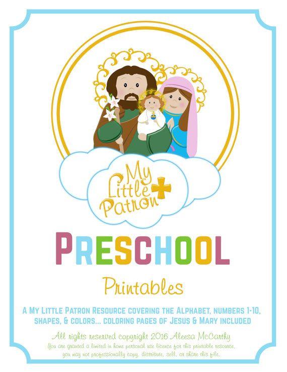 Catholic Preschool Printables By Saongjai On Etsy