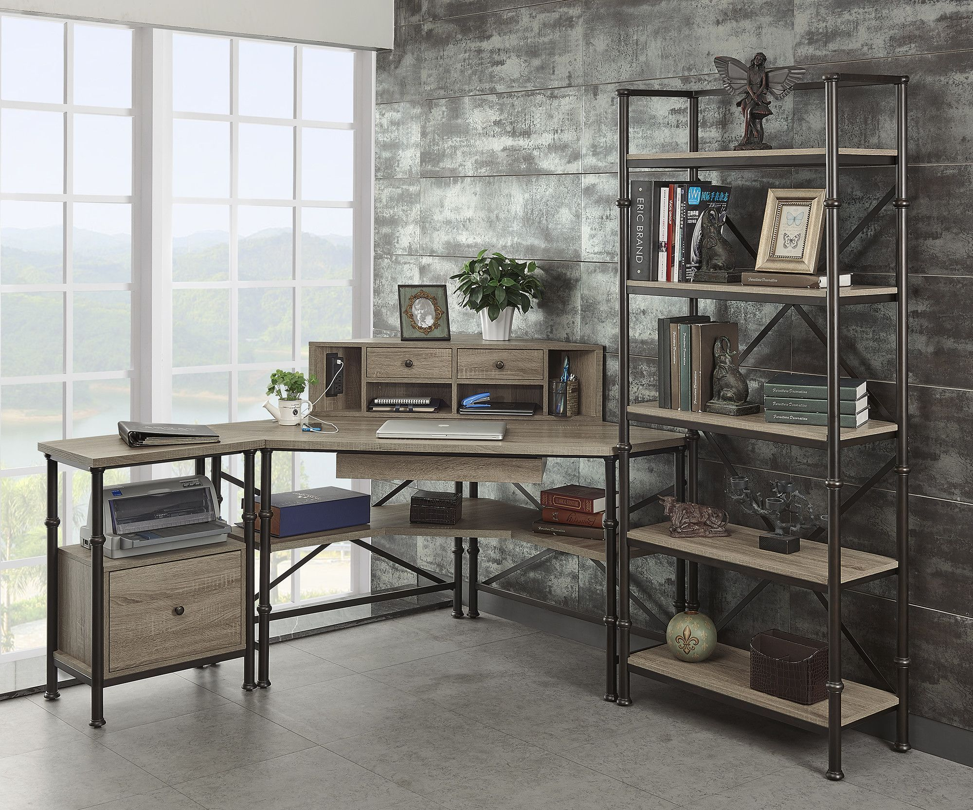 Found It At Wayfair   Franklin Corner Desk With Hutch, File And Bookcase  More