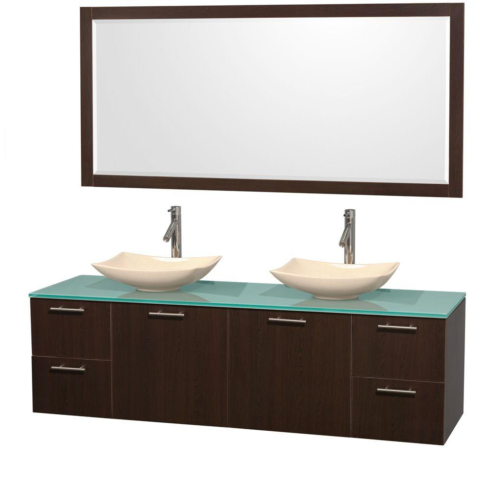 Wyndham Collection Amare 72 In Double Vanity In Espresso With