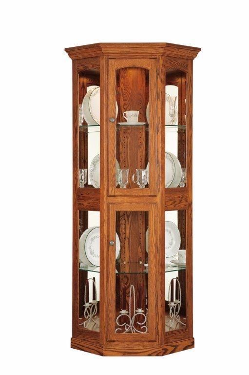 Amish Heirloom Small Corner Curio Cabinet Corner Curio Curio