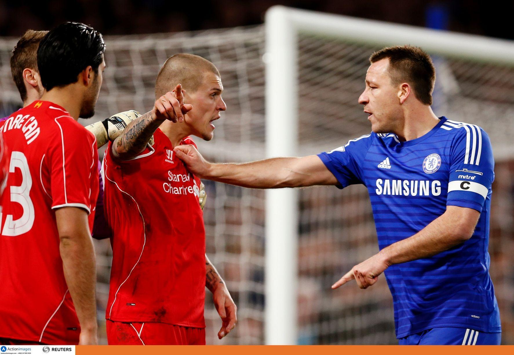 """Chelsea 1 Liverpool 0: Reds """"srdce zlomené ako absorbujúci semifinále vidí Wembley sen skončil starú nepriateľ - Martin Skrtel vs John Terry - Liverpool Echo"""