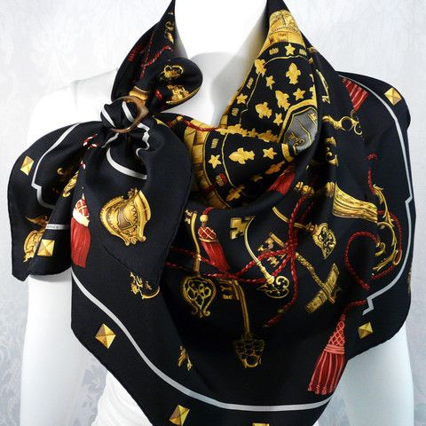 Ideas on How to wear your HERMES Carre with a scarf ring using a La Cle Scarf