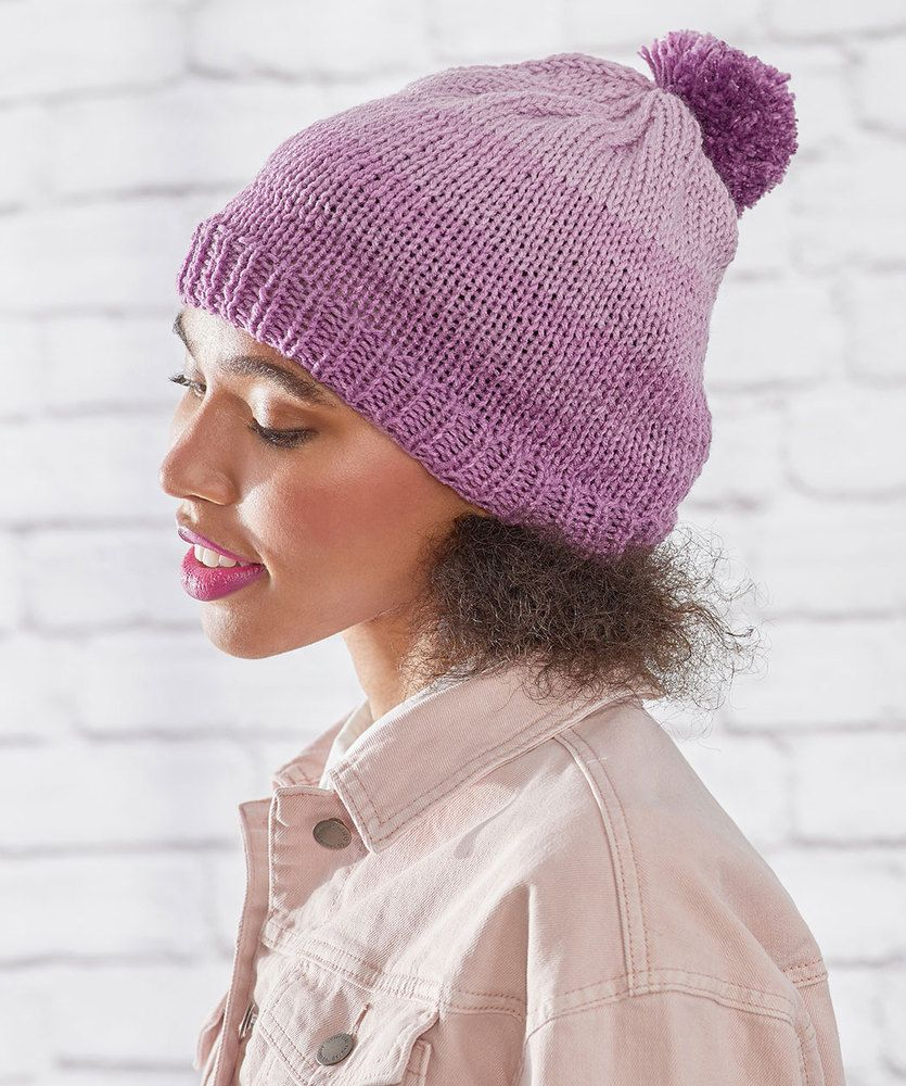Free Knitting Patterns For 3 Easy Stockinette Stitch Hats Beanies