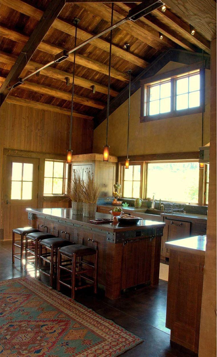 estilo rústico para los muebles de la cocina | Interiores para ...
