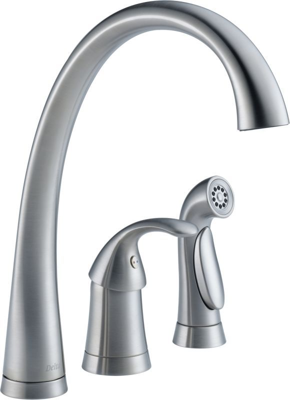 Delta 4380 Dst Pilar Kitchen Faucet With Side Spray Includes Lifetime Warranty Arctic Stainless Single Handle