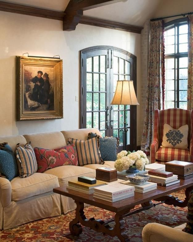 French Style Living Room: 37 Cozy French Cottage Living Room Design Ideas