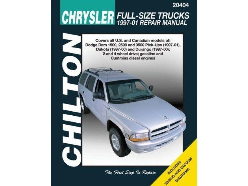 Repair Manual Chilton 20404 Fits 97 00 Dodge Dakota Durango Ram