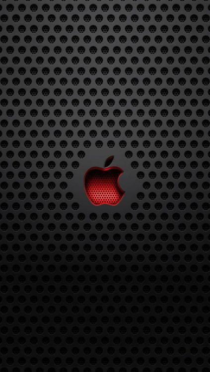 Apple Red And Black Computer Fondos De Pantalla Hd Para Iphone