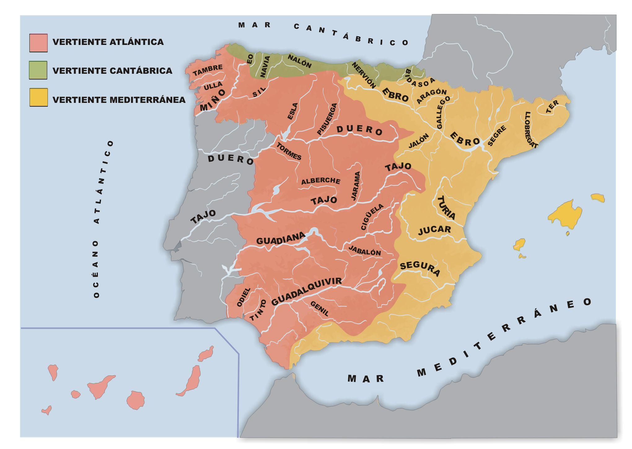 Educarex Es Los Rios De Espana Por Cuenca Rios De Espana