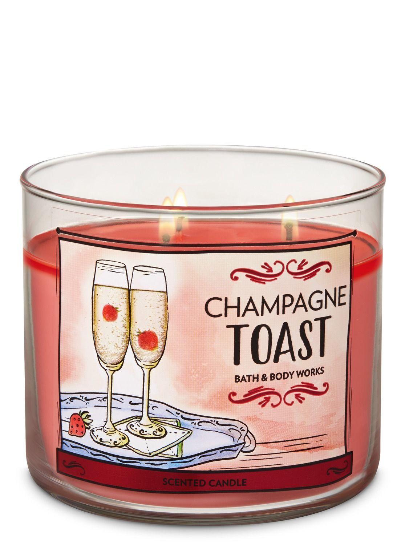 Bath /& Body Works CHAMPAGNE TOAST Mini Candle Spring Range